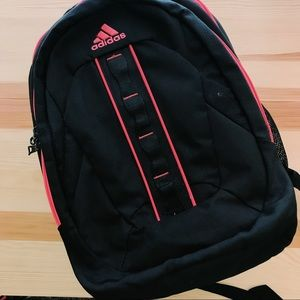 adidas hickory backpack in pink and black